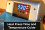 heat press time and temperature